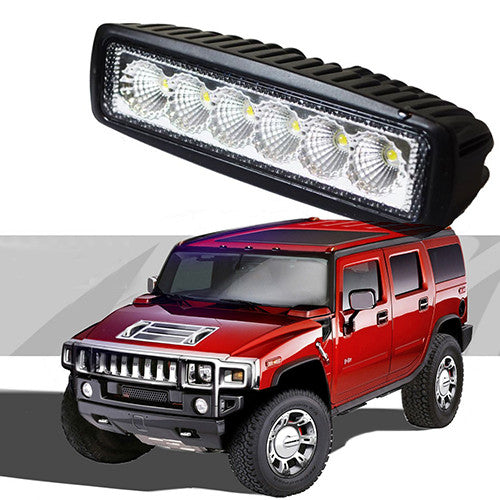 6 Inch 18W Led Light Bar Sr Flood