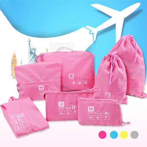 7-Piece Travel Luggage Organiser Set