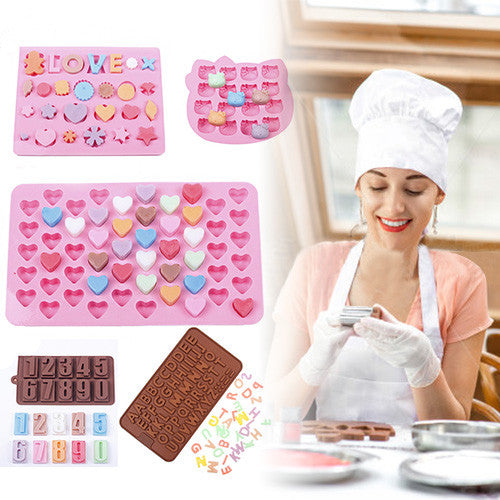 Set of Silicone Chocolate and Candy Decorating Mould