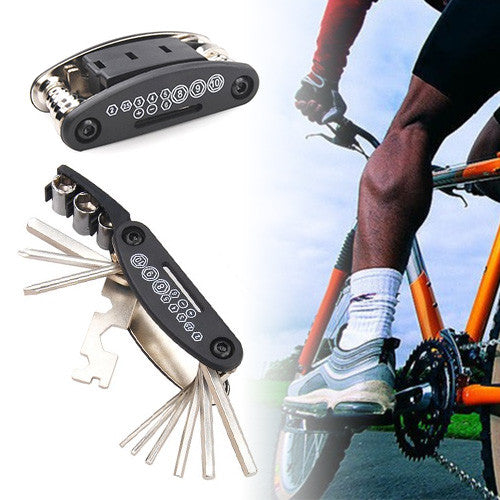 16 in 1 Multi-Function Bicycle Repair Tool Kit