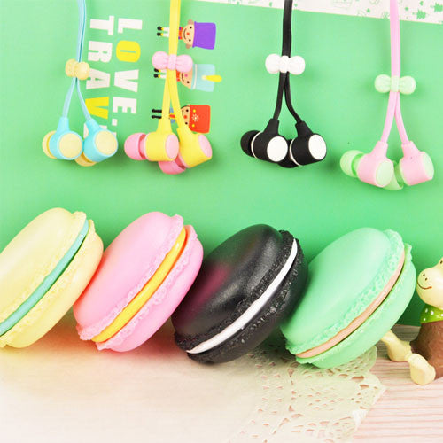 Cute Macaron Design Earphone & Storage Box