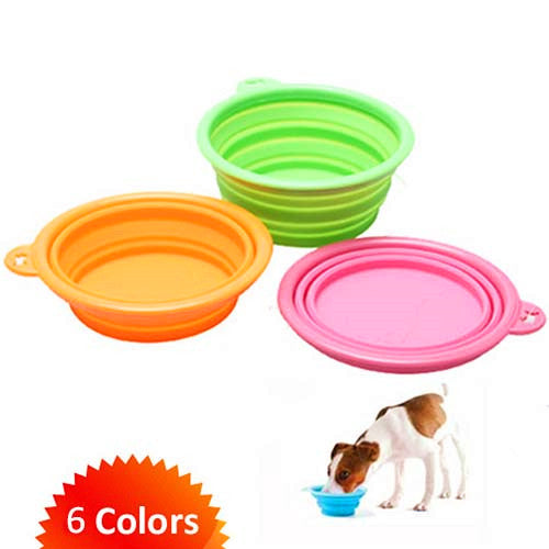 Pet Collapsible Silicone Feeder