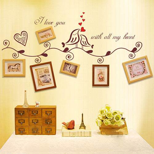 Love Birds Romantic Wall Sticker