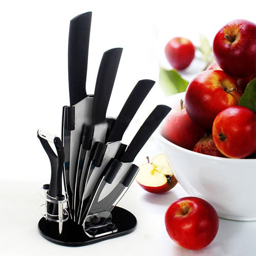 Kitchen Ceramic Knives and Peeler with Holder