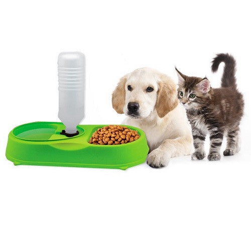 Pet Feeder with Automatic Water Refilling System