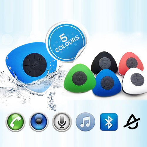 Water-Resistant Triangle Bluetooth Shower Speaker
