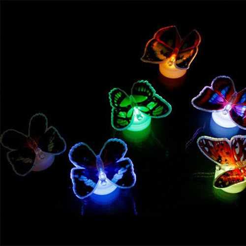 4-Pack of LED 3D Butterfly Night Lights