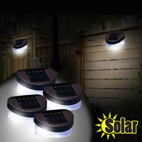 2 or 4 Solar Fence Lights