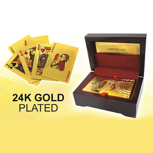24K Gold-plated Playing Cards with 2D Effect