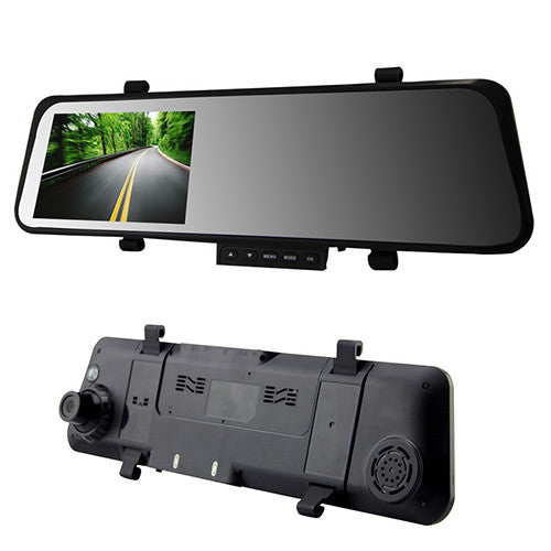 "4.3"" LCD Car Rear View Mirror DVR with Dual Camera"
