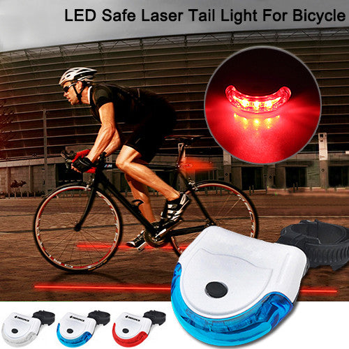 LED Safe Laser Tail Light For Bicycle