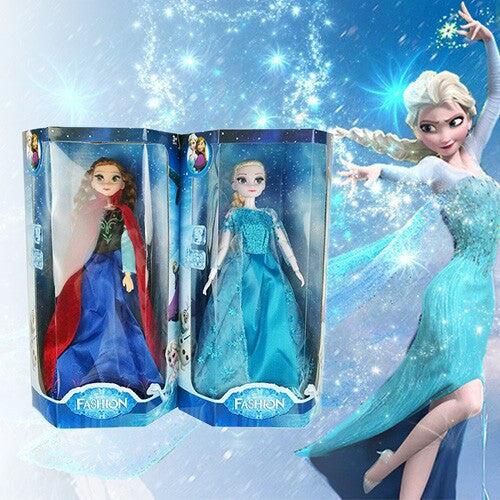 Princess Anna & Elsa Doll with Music and Light