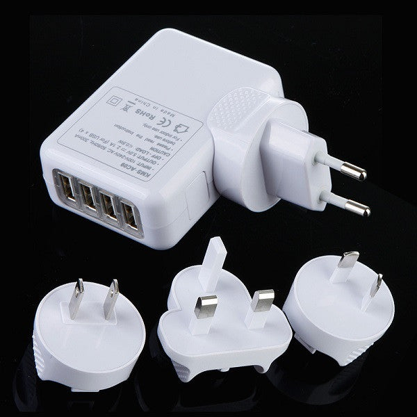 Universal Travel Adapter with Built-In USB