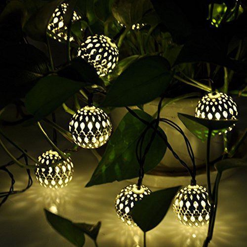 10 Solar Powered LED Fairy Lights