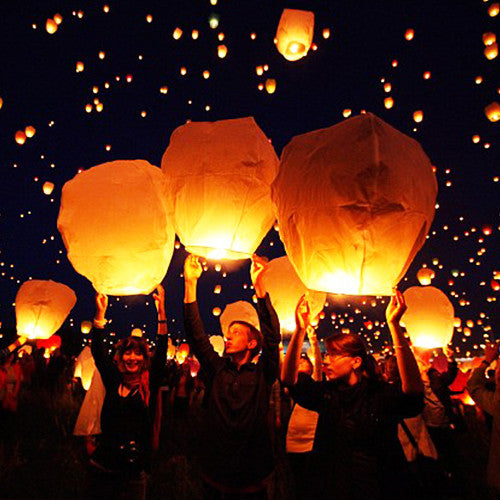 5-Pack of Light and Release Wishing Lanterns