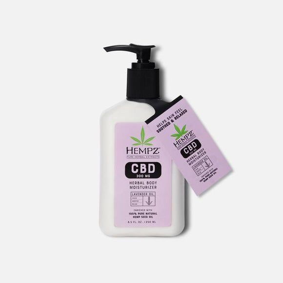 HEMPZ CBD Aromatherapy Lavender Oil Herbal Body Moisturizer 8.5oz