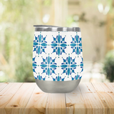Blue Tile Wine Tumbler