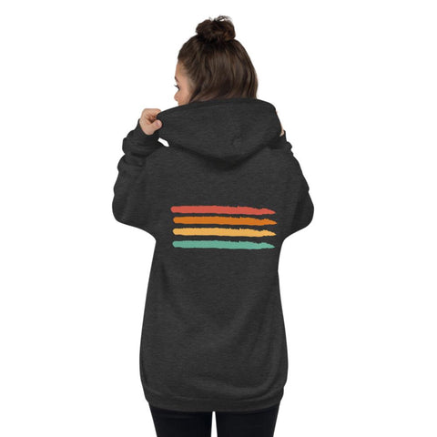 Rainbow Zip Unisex Hoodie - Volition Skate Co.