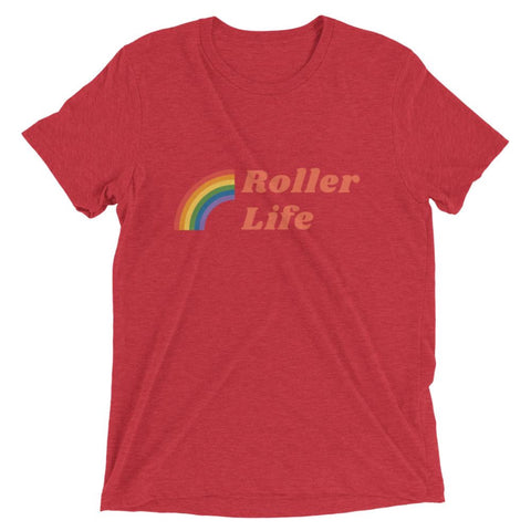 Roller Life Vintage Tri-Blend Short sleeve t-shirt - Volition Skate Co.