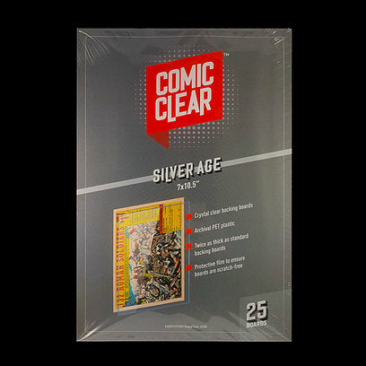 Silver Age Clear Backing Boards (x25)