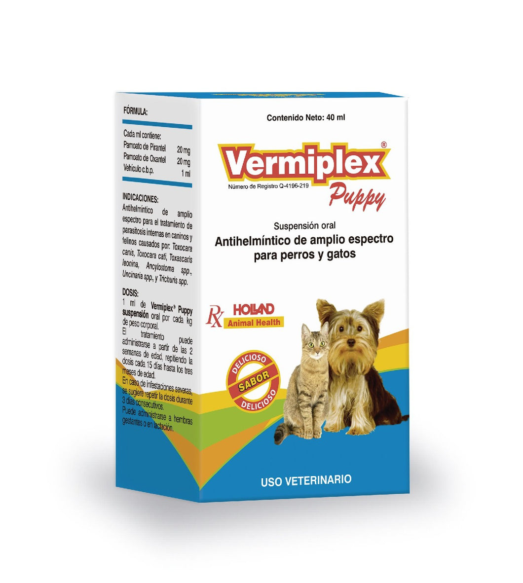Vermiplex® Puppy Suspensión Oral 40mL