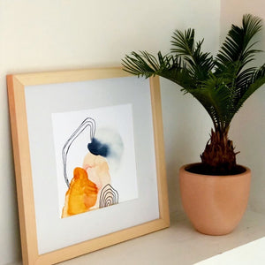 abstract watercolor art, artwork, palm, framed artowkr, art prints