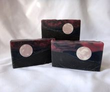 Load image into Gallery viewer, Raspberry Moon Landscape Handcrafted Soap