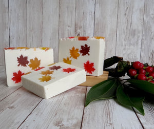 Falling Maple Leaves Handmade Soap