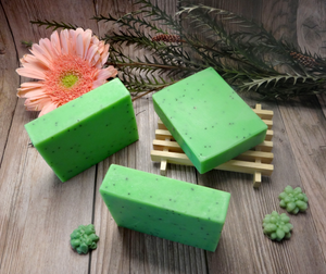 Kiwi Poppyseed Exfoliating Handmade Soap