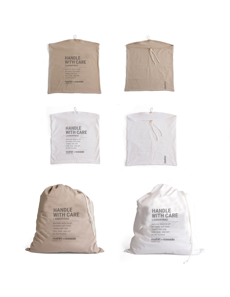 NOWASTE laundry bag - invisible khaki en wit