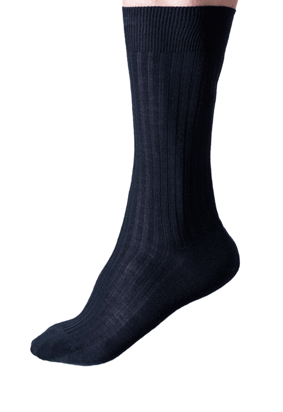 NOSOCKS long wool - donkerblauw