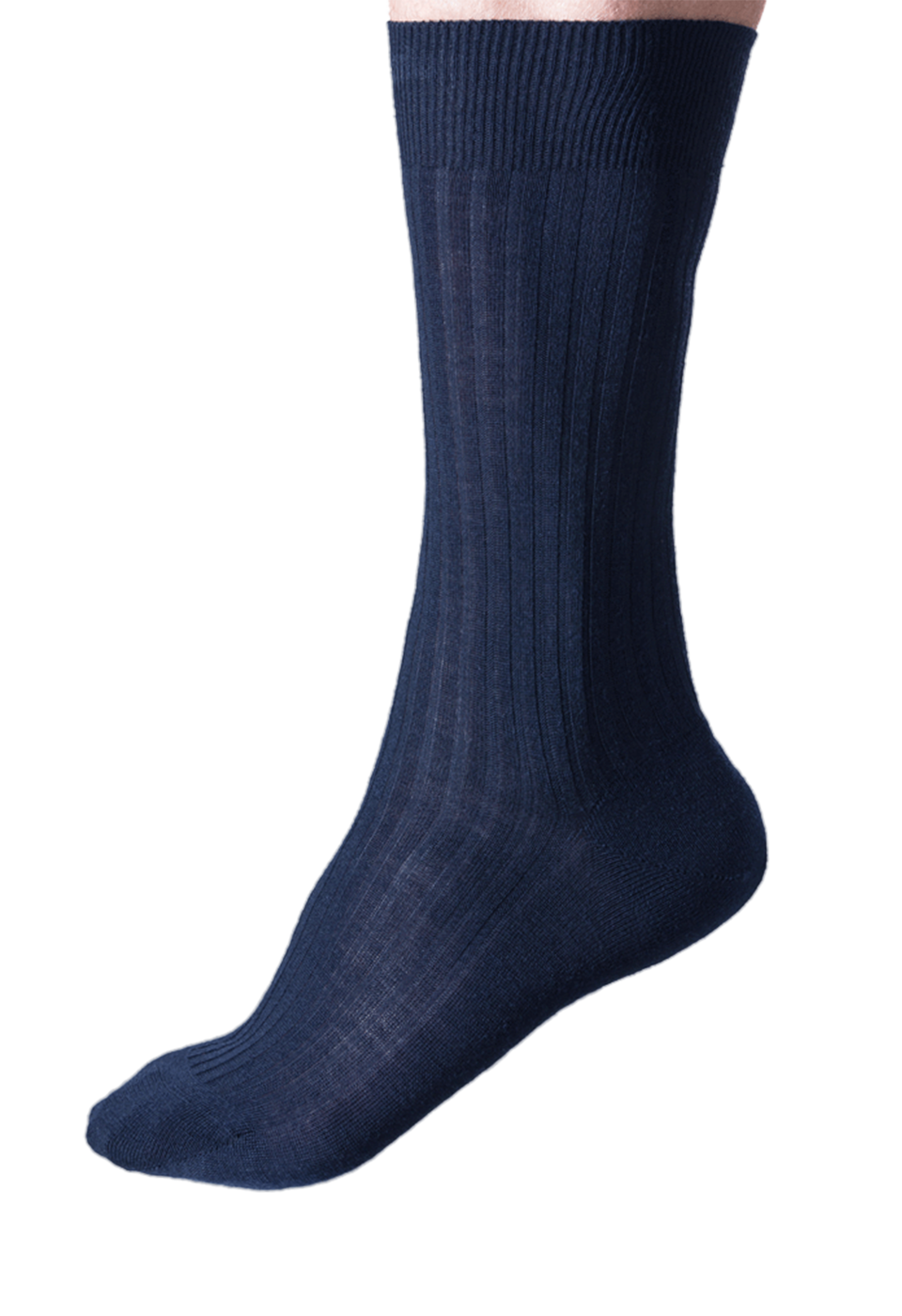 NOSOCKS long wool - marineblauw