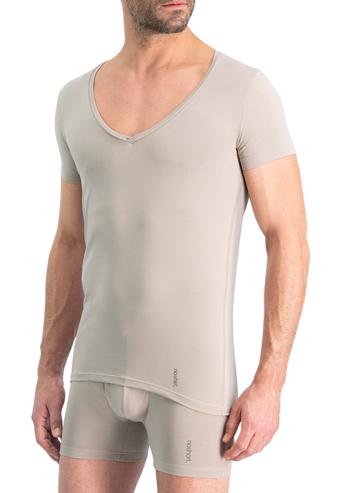 NOSHIRT original - deep V - invisible khaki