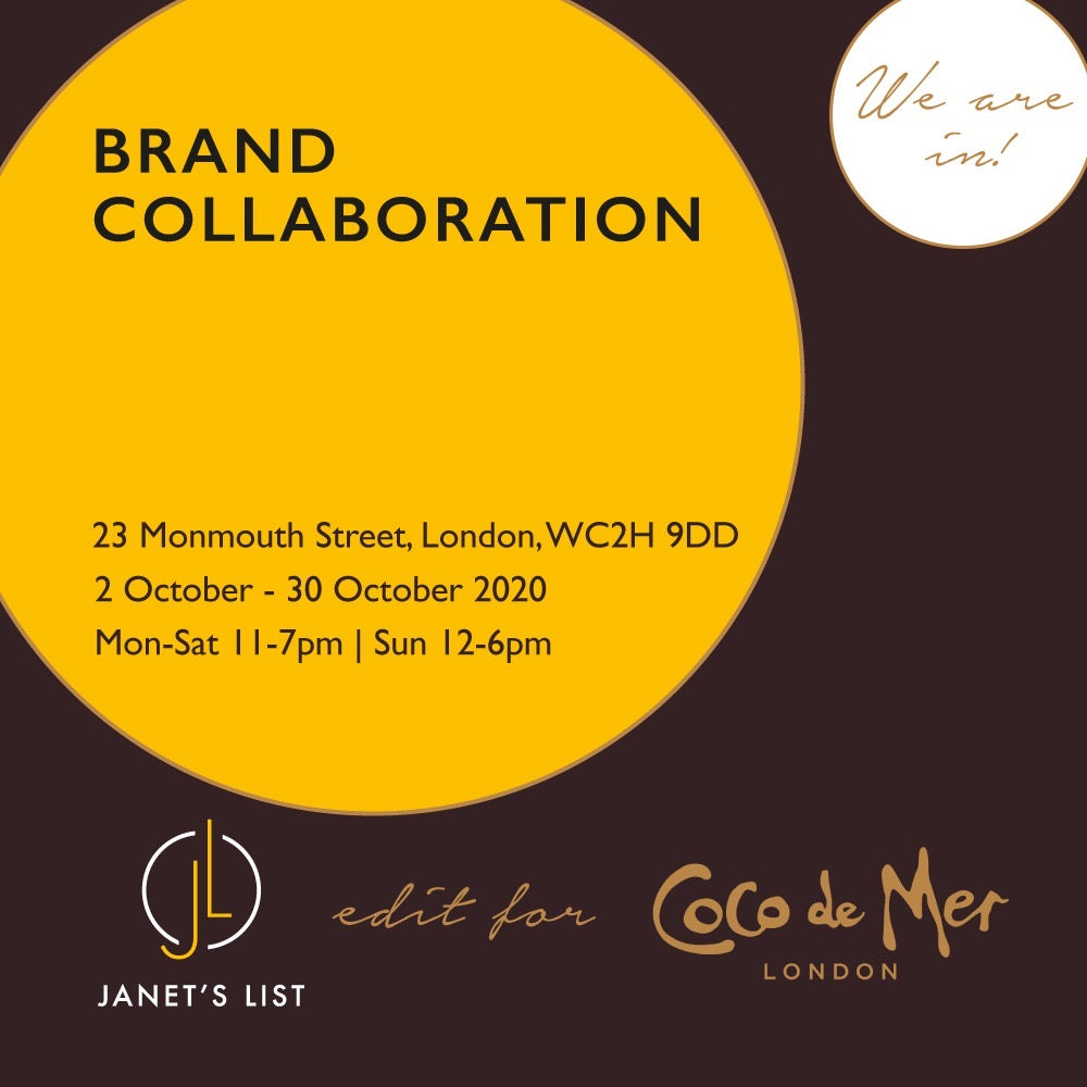 Janet's List x Coco De Mer Popup - Don't Miss This