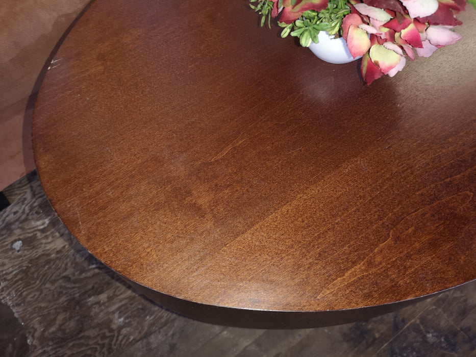 Dark Wood Oval Coffee Table WGV