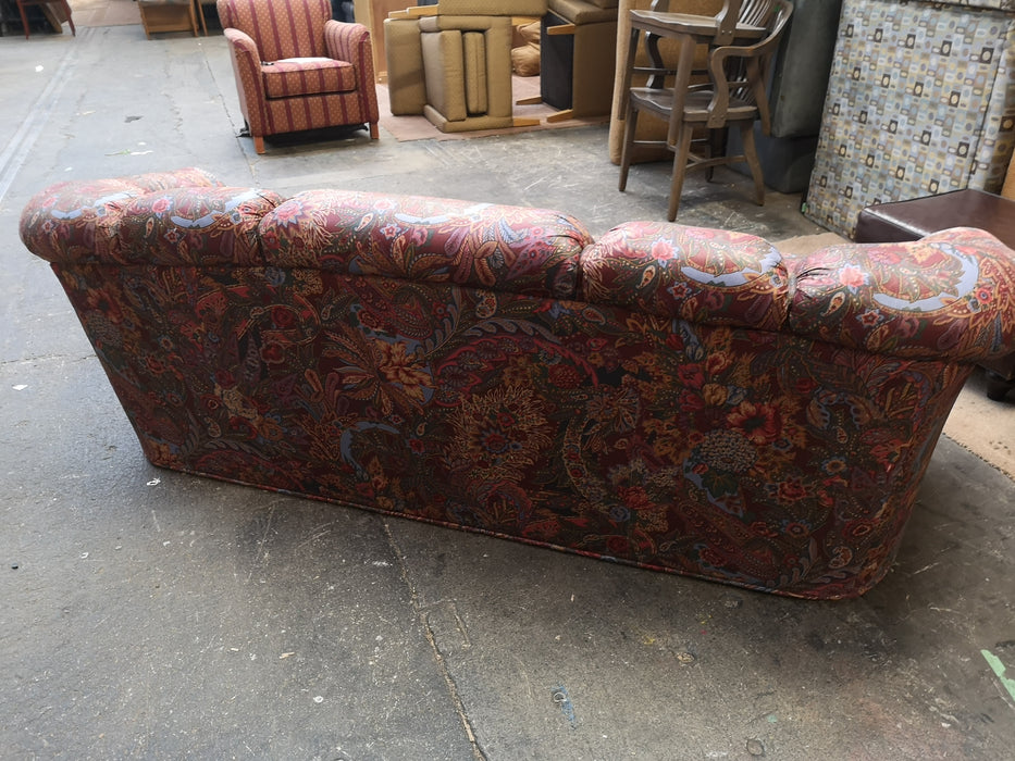 Floral Three Seater Sofa