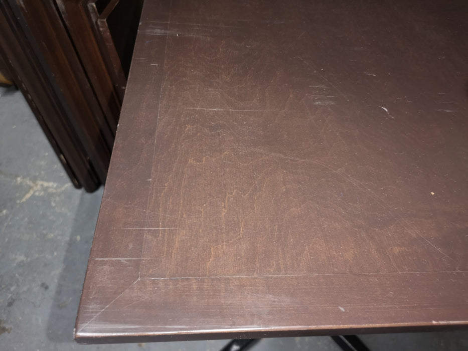 Dark wood square table top