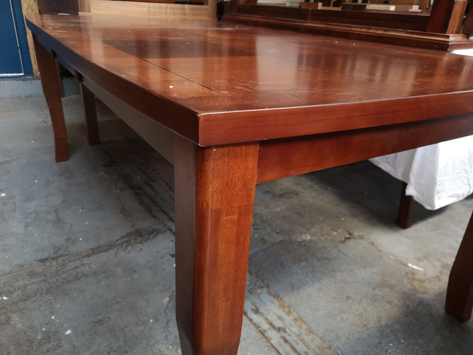 Large Dining Table with Square Pattern Top