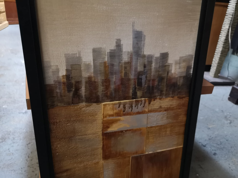 Black Frame City Scene Art