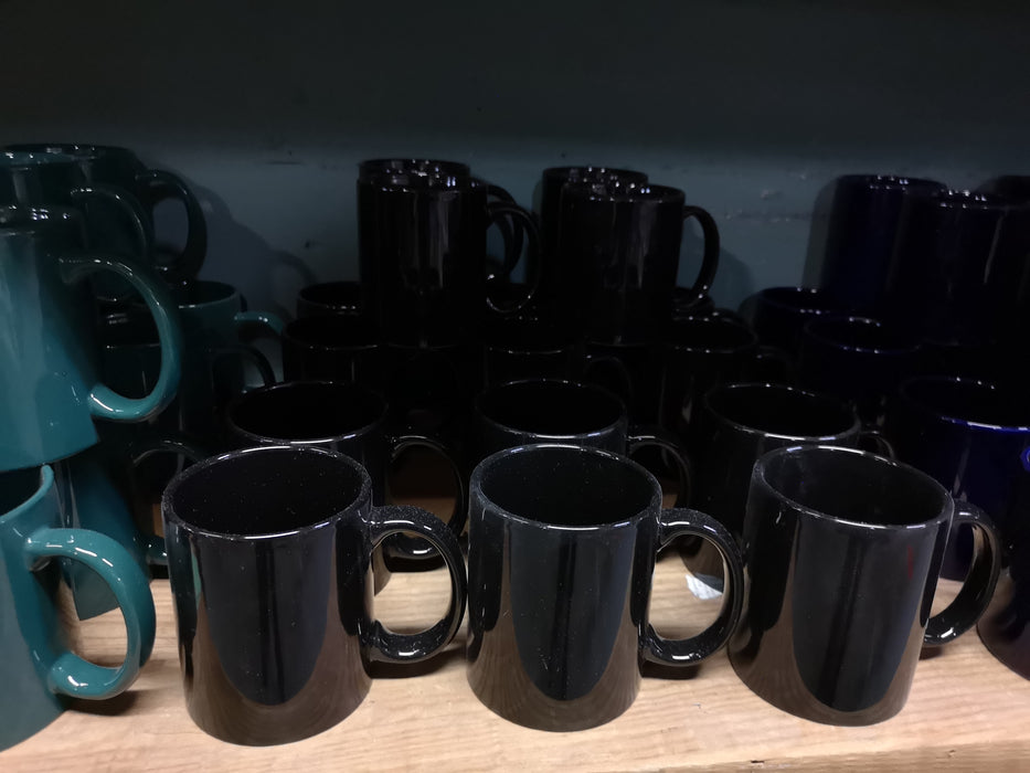 11oz Coffee Mugs Black Blue Green