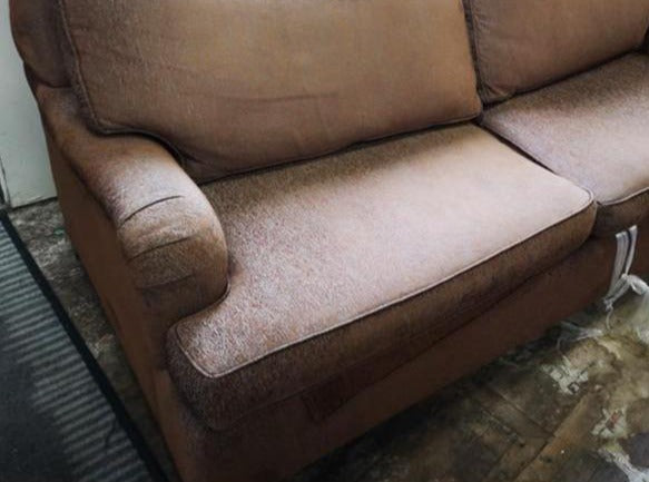 Brown Patterned Sofa Bed FSW