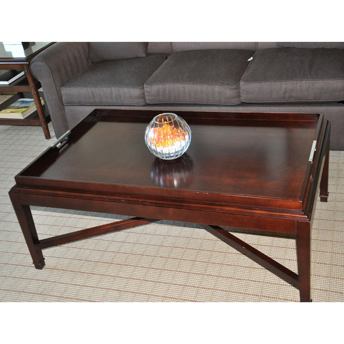 Dark Wood Coffee Table with Handle Detail SHG