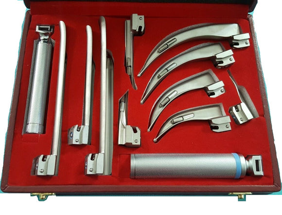 Laryngoscope Macintosh Miller Conventional Diagnostic ENT Exam Kit