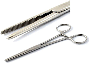 "Pean Full Serrated Hemostat Forceps 8"", Straight, Stainless Steel"