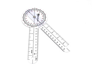 "Plastic 8"" Goniometer 360 Degree Physical Therapy Angle Protractor"