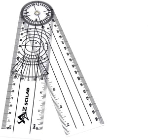 "Plastic 8"" Round Spinal Goniometer 360 Degree Protractor"