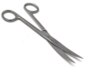"Lab Dissecting Scissors, Sharp/Sharp, 6.5"", Curved, Stainless Steel"