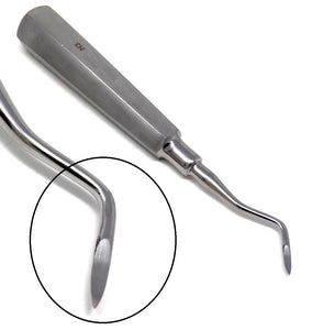 Heidbrink Dental Root Pick Elevator H2 Single End Left, Stainless Steel