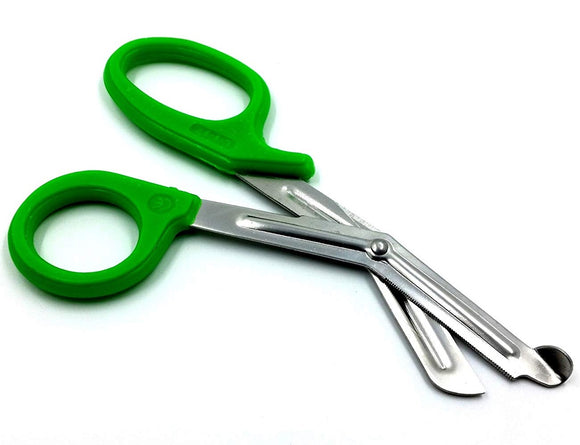 Green Handle with Stainless Steel Blades Trauma Shears 7.25
