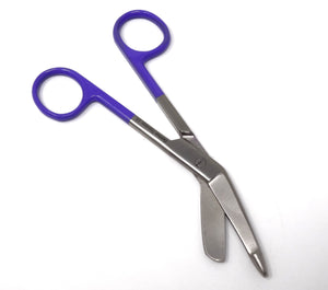 "Purple Handle Color Lister Bandage Scissors 5.5"", Stainless Steel"